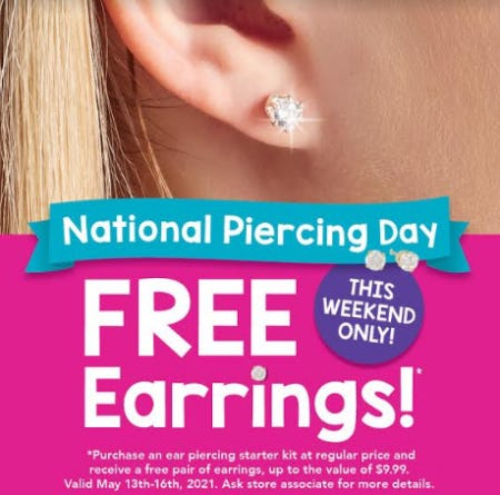 Free Earrings from Claire's