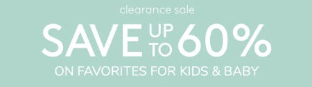 Save Up to 60% Clearance Sale from Pottery Barn Kids