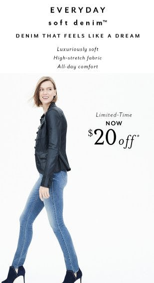 Everyday Soft Denim Now $20 Off from White House Black Market