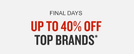 Up to 40% Off Tops Brands