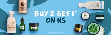 Buy 2, Get 1 on Us from The Body Shop