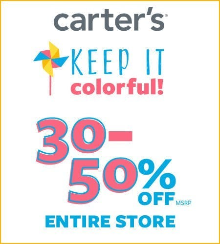 Keep It Colorful! 30-50% Off* Entire Store