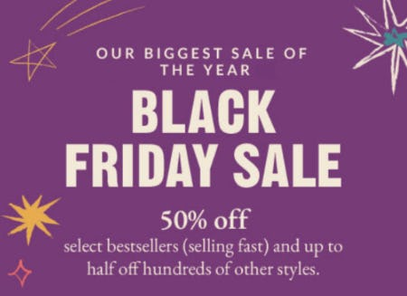 50% Off Black Friday Sale