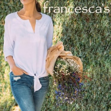 Full Price Fashion Tops, Now $20 from francesca's