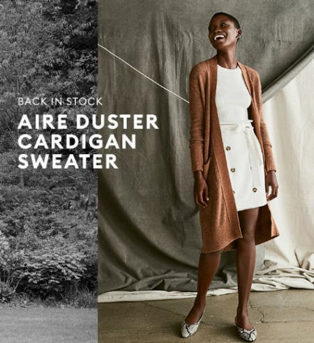 Back in Stock Aire Duster Cardigan Sweater