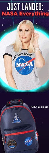 Shop Our NASA Styles from Spencer's Gifts