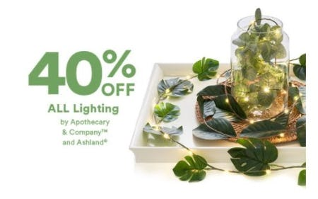 40% Off All Lighting by Apothecary & Company and Ashland from Dick's Sporting Goods