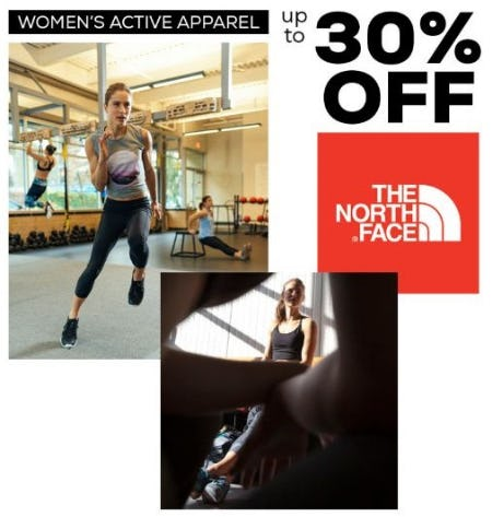 Up to 30% Off Women's Active Apparel from The North Face from Sun & Ski Sports