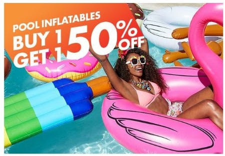BOGO 50% Off Pool Inflatables from Party City