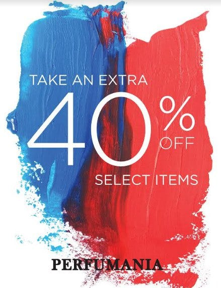 40% Off Select Items from Perfumania