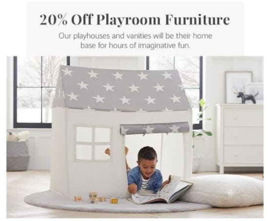 20% Off Playroom Furniture