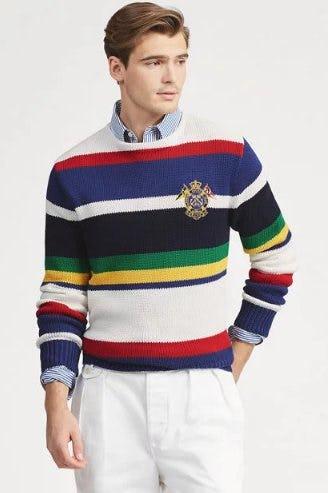 Striped Cotton Sweater from Ralph Lauren
