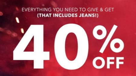 40% Off Select Items from American Eagle Outfitters
