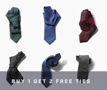 Buy 1, Get 2 Free Ties