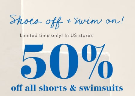 50% Off All Shorts & Swimsuits from Aerie