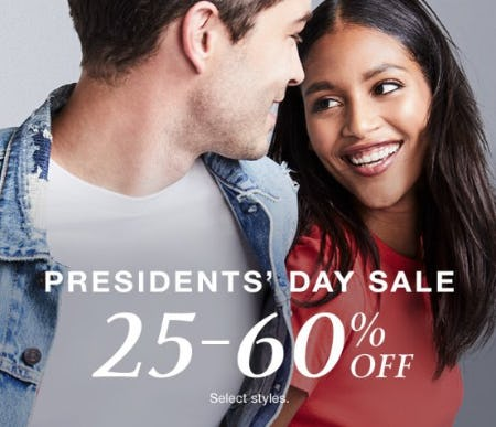 Presidents' Day Sale from macy's