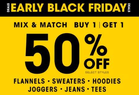 Early Black Friday Deals BOGO 50% Off from Tillys