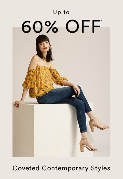 Up to 60% Off Contemporary Styles