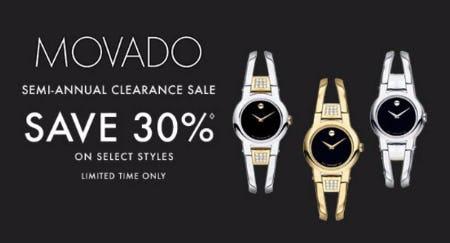 Movado Semi-Annual Clearance Sale