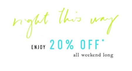 20% Off Sale from Anthropologie