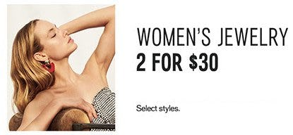 Women's Jewelry 2 for $30 from Express