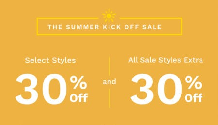 The Summer Kick Off Sale from Cole Haan