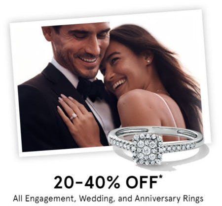20-40% Off All Engagement, Wedding, and Anniversary Rings from Kay Jewelers