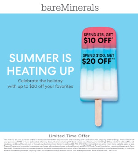 4th of July Tiered Event! from bareMinerals