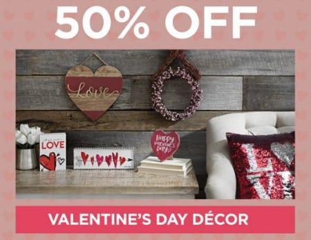 50% Off Valentine's Day Décor from Kirkland's