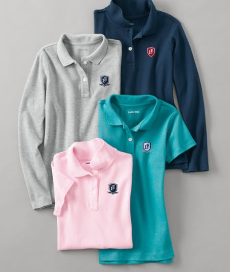 Our Softest Uniform Polos from Lands' End