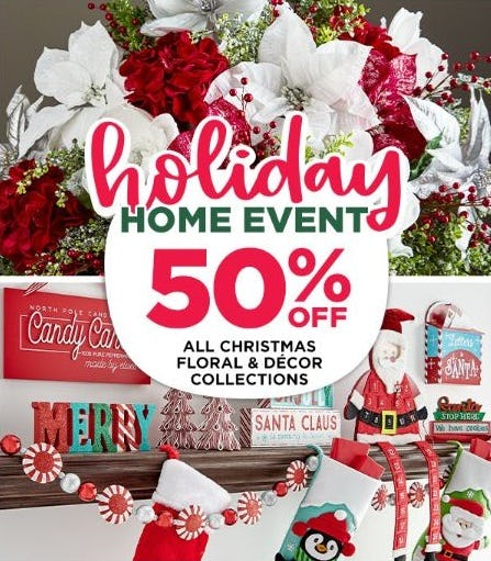 Holiday Home Event: 50% Off from Michaels