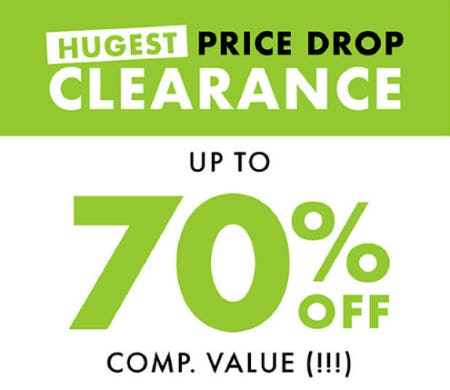 Hugest Price Drop Clearance: Up to 70% Off Comp. Value