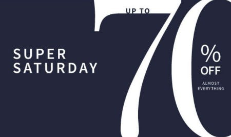 Super Saturday: Up to 70% Off Almost Everything from Jos. A. Bank