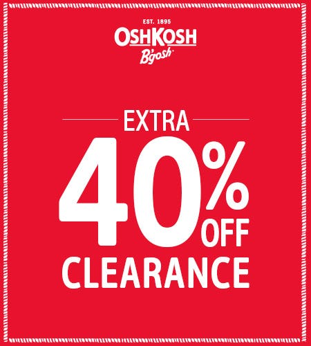 Extra 40% Off Clearance from Oshkosh B'gosh
