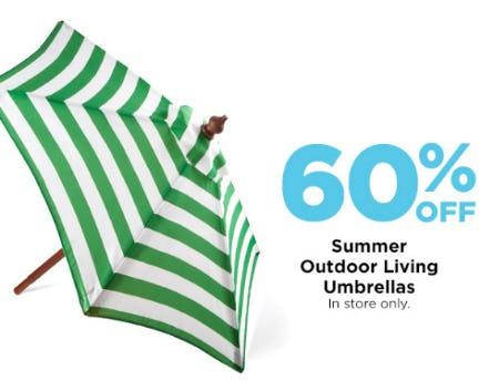 60% Off Summer Outdoor Living Umbrellas from Michaels