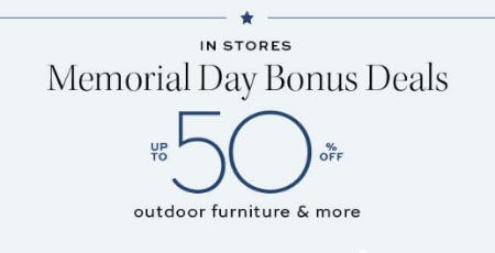Up to 50% Off Memorial Day Bonus Deals from Pottery Barn