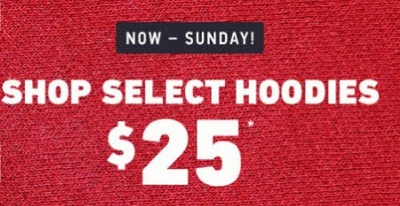 $25 Select Hoodies from Hollister Co.