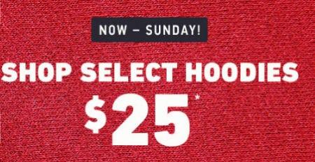 $25 Select Hoodies