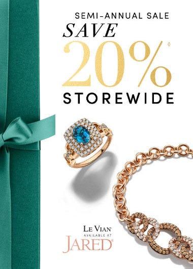 20% Off Semi-Annual Sale from Jared Galleria Of Jewelry