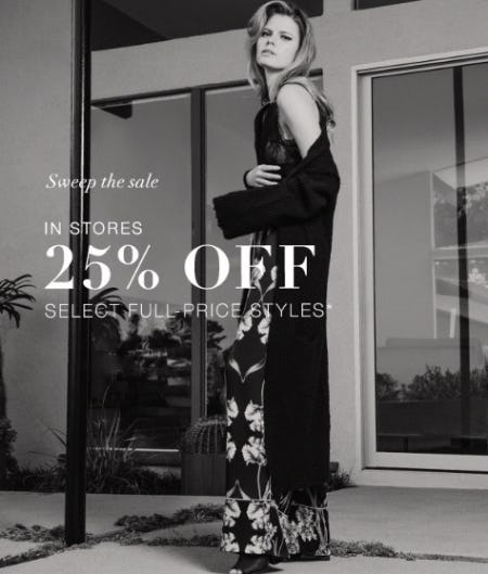 25% Off Select Full-Price Styles from BCBGMAXAZRIA