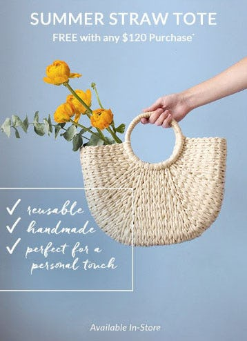 Free Tote with Any $120 Purchase from L'Occitane