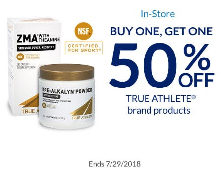 BOGO 50% Off True Athlete Brand Products from The Vitamin Shoppe