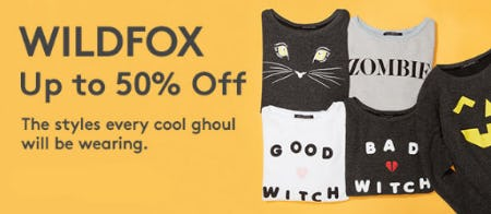 Up to 50% Off Wildfox