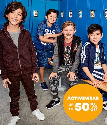 Activewear up to 50% Off from Children's Place