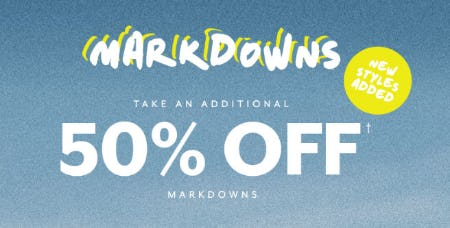 Additional 50% Off Markdowns from PacSun