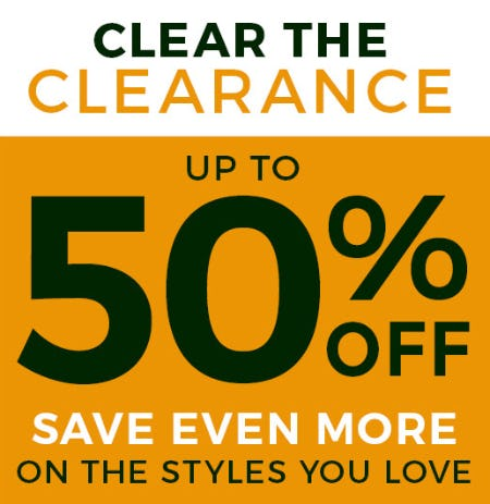 Up to 50% Off on Clearance from Stein Mart