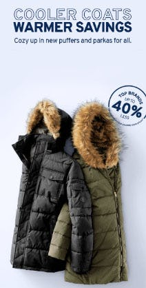 Up to 40% Less Puffers & Parkas from Marshalls