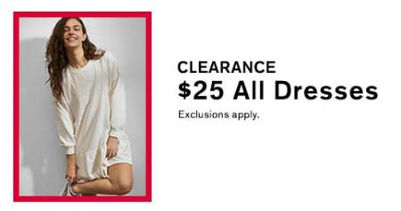 $25 Clearance Dresses from Express
