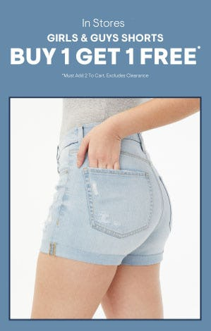 BOGO Free Girls & Guys Shorts from Aéropostale