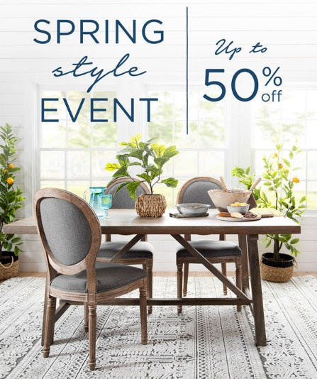 Up to 50% Off Spring Style Event from Kirkland's